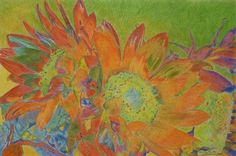 """Sunbright"" 20 x 30"" pastel pencil on Stonehenge paper, 2011. By Cris Fulton, Bowman, North Dakota."