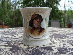 Luster Fisherman Shaving Mug Occupational Germany Porcelain Man Smoking Pipe Vintage Bathroom by NewOxfordVintage on Etsy