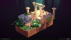 Stylized Jungle scene showcases the modularity and diversity of the models I have created for beffio, one of the leading assets provider on Unity Asset Store. Modeling, texturing, lighting and composition/scene layout done by me. Jungle Scene, 3d Assets, Environmental Art, Art Studies, Cartoon Styles, Dungeons And Dragons, Game Art, Unity, Concept Art