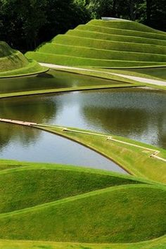 The Garden of Cosmic Speculation is a 30 acre sculpture garden