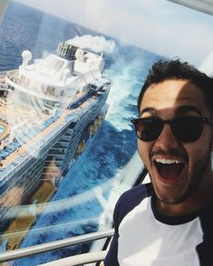 Don't forget!! I'm doing a #FacebookLIVE from the back of the ship in 40 mins !!! #anthemoftheseas #fitadventure 6pm EST!! by therealcarlospena