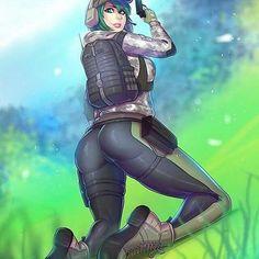 Rainbow Six Siege Ash, Rainbow 6 Seige, Rainbow Six Siege Memes, Tom Clancy's Rainbow Six, Rainbow Art, Caveira Rainbow Six Siege, Anime Military, Thicc Anime, Sexy Drawings