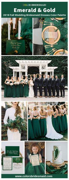 Emerald Wedding Colors, Emerald Green Bridesmaid Dresses, Fall Bridesmaid Dresses, Fall Wedding Colors, Bridesmaid Color, Wedding Flowers, Bridesmaid Ideas, Flowers Uk, Wedding Dresses