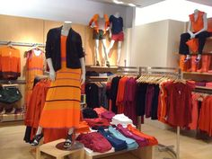 This section screams spring ! Orange is the trendy color to wear this spring. Gap has you covered with great maxi dresses and colorblocked cardigans!