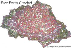 Freeform crochet shawl by Christine Brown - amazing and inspiring, and a reminder of how important color is in freeform