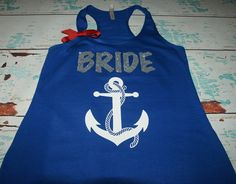 Bridal Shirt Anchor 1 Nautical Wedding. Bride by BrideAndEntourage, $24.08 CAD