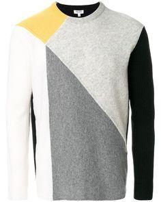 KENZO   Gray Colour Block Sweater for Men   Lyst