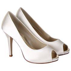 c7e9c4c55e6a Buy Rainbow Club Jennifer Satin Platform Peep-Toe Court Shoes Online at  johnlewis.com