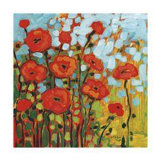 Red Poppy Field Impressão artística
