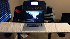 Behold, the DIY treadmill desk Treadmill Desk, Hours In A Day, Sedentary Lifestyle, Lose Weight, Weight Loss, Circuit Training, Get Moving, Diy Desk, Physical Fitness