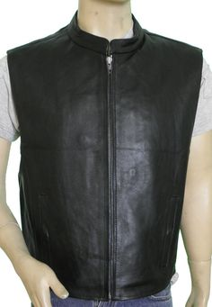 5df70896b VL930 Vance Leather Men's Premium Cowhide Leather Zip Front Vest
