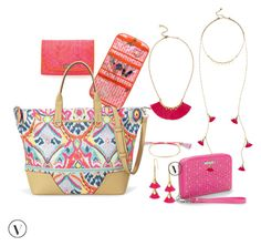 """Tickle Me Pink-Travel Stella & Dot"" by kmathews62 on Polyvore featuring Stella & Dot"