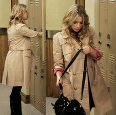 Hanna in a trench coat