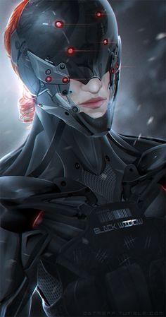 Future, Futuristic, Cyberpunk, Future Warrior, Futuristic Girl, Mask, Girl in Black, Armor, Helmet, Cyber Mask, Military, Sci-Fi Girl, Girl Power, Girl Warrior, Future Girl, The BLack Widow by *cat-meff on deviantART