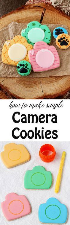 How to Make Cute Retro Camera Cookies | The Bearfoot Baker