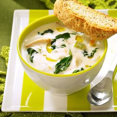 Creamy Chicken Gnocchi Soup Recipe -I tasted a similar soup at Olive Garden and wanted to try and make it myself. Here's the delicious result! It's wonderful on a cool evening. —Jaclynn Robinson, Shingletown, California