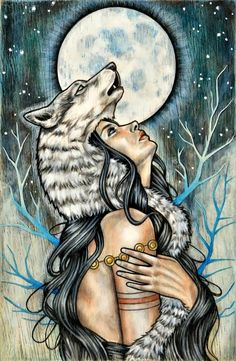 Obscura - Mixed Media Painting on Wood Panel by Wendy Ortiz Art And Illustration, Fantasy Kunst, Fantasy Art, Art Sketches, Art Drawings, Wolf Artwork, Wolf Spirit, Mixed Media Painting, Werewolf