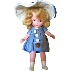 Nancy Ann Storybook Richman Poorman Molded Sock Doll All Original