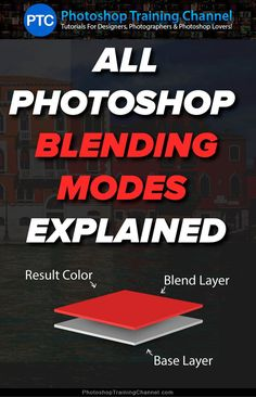 In this Photoshop tutorial, I'm going to give you an in-depth explanation on how Blending Modes work. This is the ultimate guide to Blend Modes in Photoshop ** Read more details by clicking on the image.