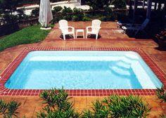 Small Rectangle Fiberglass Pool - Sea Isle