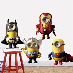 Avenger Union Despicable Me 2 Wallpaper For Kids Rooms Home Decor Art Decals Sofa house decoration DIY 3D Vinyl Wall Stickers - http://www.aliexpress.com/item/Avenger-Union-Despicable-Me-2-Wallpaper-For-Kids-Rooms-Home-Decor-Art-Decals-Sofa-house-decoration-DIY-3D-Vinyl-Wall-Stickers/32419652792.html