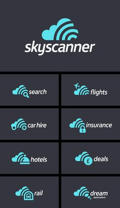 Our new brand identity for the brilliant @skyscanner service.  Let us know what you think.