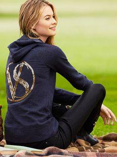 Fleece Hoodie Supermodel Essentials  #MyVSFallEdit