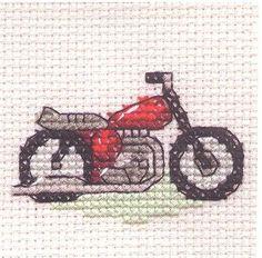 Red Motorbike Cross Stitch Kit: Cross stitch (Mouseloft, 004-G08stl)