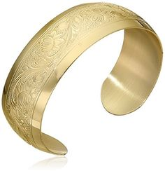 14k Yellow Gold-Filled Embossed Flower Design Cuff Bracelet Amazon Curated Collection http://www.amazon.com/dp/B000V7PENU/ref=cm_sw_r_pi_dp_9byCub0S5VQCP
