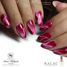 Manicure Nail Designs, Red Nail Designs, Nail Polish Designs, Nail Manicure, Glow Nails, Swag Nails, Pink Nails, Elegant Nails, Stylish Nails