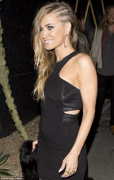 Carmen Electra and her cornrow style and hair color