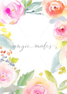 Download This Blank Painted Flower Invitation. Make a Quick, Simple DIY Flower Invitation by Simply Downloading and Adding Your Text to this Blank Invite