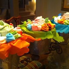 Baby shower bouquets