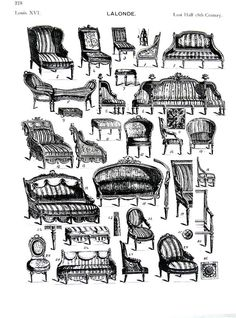 Settees Sofas Chairs  French Interiors  Louis by mysunshinevintage
