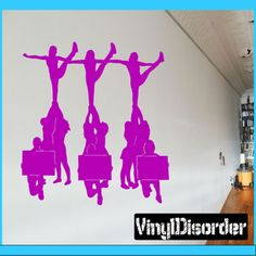 1000 images about excercise room on pinterest wall for Cheerleader wall mural