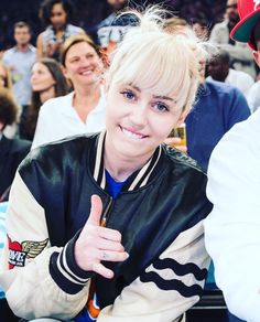 #MileyCyrus at a basketball game