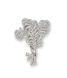 Diamond 'Feather' Brooch, Raymond Yard, circa 1925