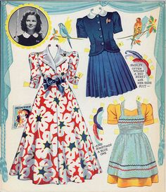 The New Shirley Temple * 1500 free paper dolls at Arielle Gabriel's The International Paper Doll Society for paper doll pals at Pinterest, thanks to all of you..! *