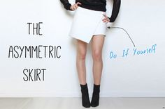 DIY Asymmetric Skirt with FREE Sewing Tutorial