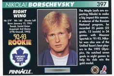 1992-93 Pinnacle #397 Nikolai Borschevsky Back