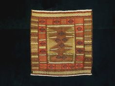 An antique oriental rug Baluch (Region North East). So-called Ru Korsi carpet (Flatweaves) or Sofre (bread cloth) from the tribal group- Bahluri the Korasan region (kainate area). Fast square with interesting hook-diamonds in blue in sumach-technik. Age: about 1900.