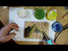 Using Pyrography As An Under Painting  For Encaustic Painting