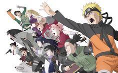 Anime - Naruto  - Sakura Haruno - Hinata Hyuga - Naruto Uzumaki - Ino Yamanaka  - Rock Lee - Sai - Tenten - Shikamaru Nara - Kiba Inuzuka - Shino Aburame - Neji Hyuga - Chouji Akimichi Wallpaper