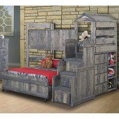 Chelsea Home 3514269-4274 Stairway Chest Loft Bed
