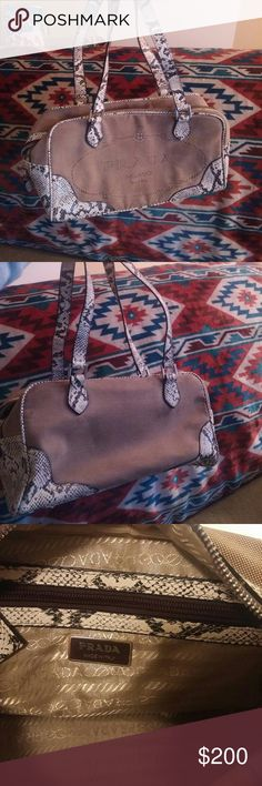 Selling this Prada Snakeskin Bag on Poshmark! My username is: rachaell89. #shopmycloset #poshmark #fashion #shopping #style #forsale #Prada #Handbags