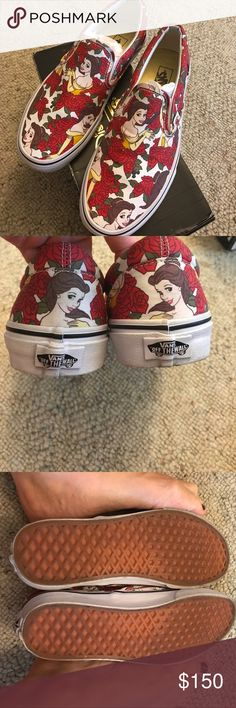 Disney BEAUTY AND THE BEAST vans Authentic beauty and the beast vans worn just a few times in excellent condition. No trades and will only negotiate price through offer button. Vans Shoes Sneakers