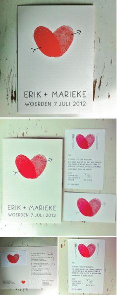 Wat: Uitnodiging huwelijk  Opdrachtgevers: Marieke en Erik  Jaar: 2012
