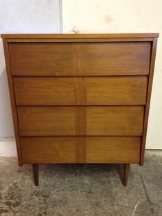 Los Angeles: Gorgeous Mid-Century Modern 4-Drawer Highboy Dresser  Excellent Shape $395 - http://furnishlyst.com/listings/241904