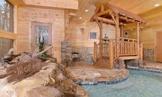 Looking for a spectacular indoor pool? Copper River, a cabin with fun amenities galore in Pigeon Forge, is just the place for YOU! Tennessee Cabins, Tennessee Vacation, Gatlinburg Tennessee, Dream Vacations, Vacation Spots, Vacation Ideas, Vacation Places, Vacation Destinations, Vacation Rentals
