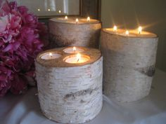 Rustic Birch Candle Holders for Your Wedding by BirchHouseMarket